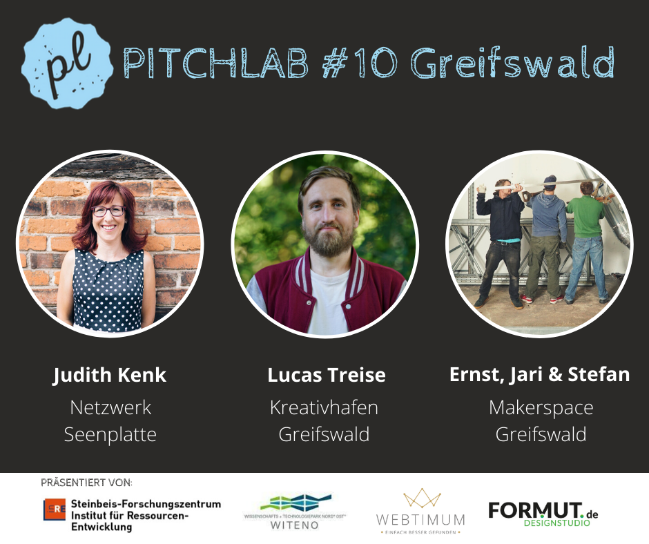 PitchLab in Greifswald am 13.11.2019 - Moderation Katja Wolter